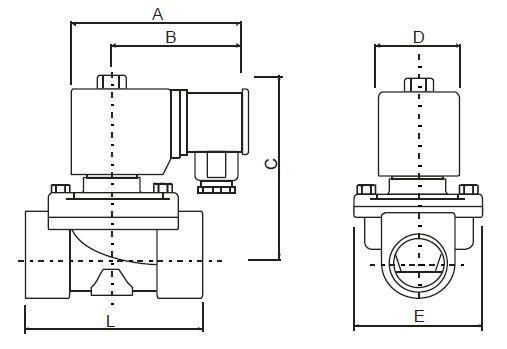 Ventilex / Elektromagnetické ventily - rozměry armatur 2
